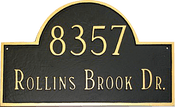 Classic Address Plaque shown here in desirable black with gold finish.