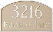 Home Address Plaque Shown in Taupe and White