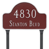 Home Address Sign – Lawn stakes as shown here can be added to your order.