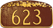 Address Number Plaque – Ivy Leaf Design
