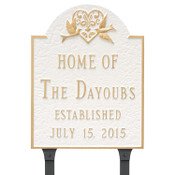 Shown with lawn stakes  Wedding Plaque with Doves