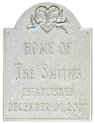 Wedding Plaque with Family Name & Established Date