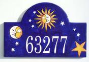 Celestial Sun, Moon and Stars Plaque