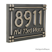 Side view of plaque. Metal Coated Finish shown here is Stainless Steel.