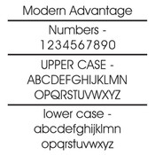 Example of the lettering  and numbering style used on these house number plaques.
