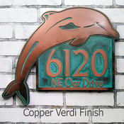 Dolphin Address, House Number or Message Plaque