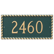 Franklin Address Plaque - Metal shown with numbers only