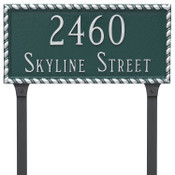 Add lawn stakes to your Metal Franklin Address Plaque