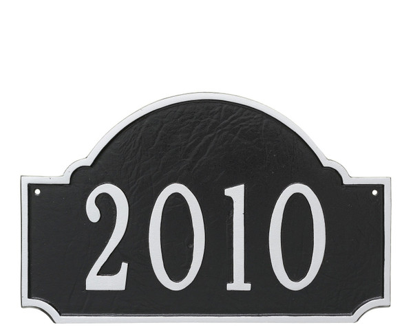 Fitzgerald Address Plaque in Black Silver color