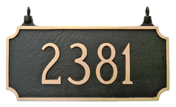 Hanging Address Plaque - Two Sided Rectangle