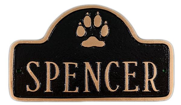 Dog Name Plaque