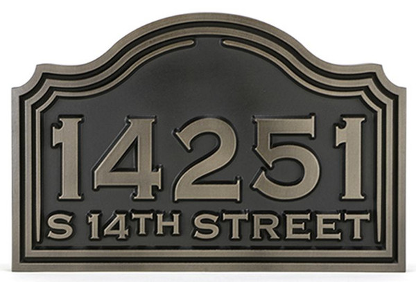 Classic Arch Address Plaque