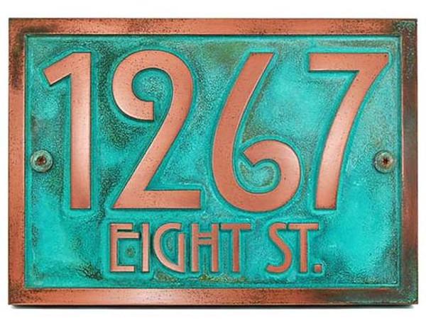 Stickley Address Plaque