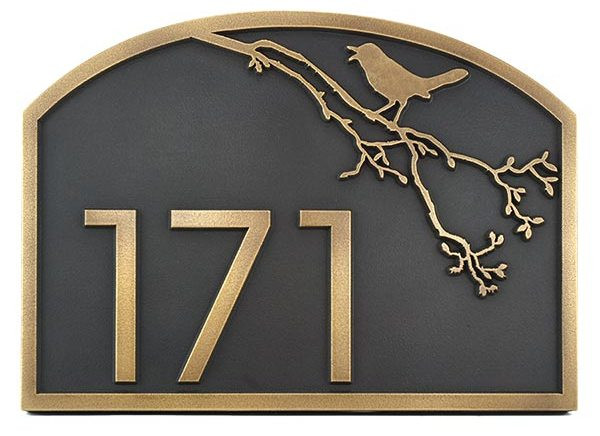 Songbird Address Plaque with house numbers.