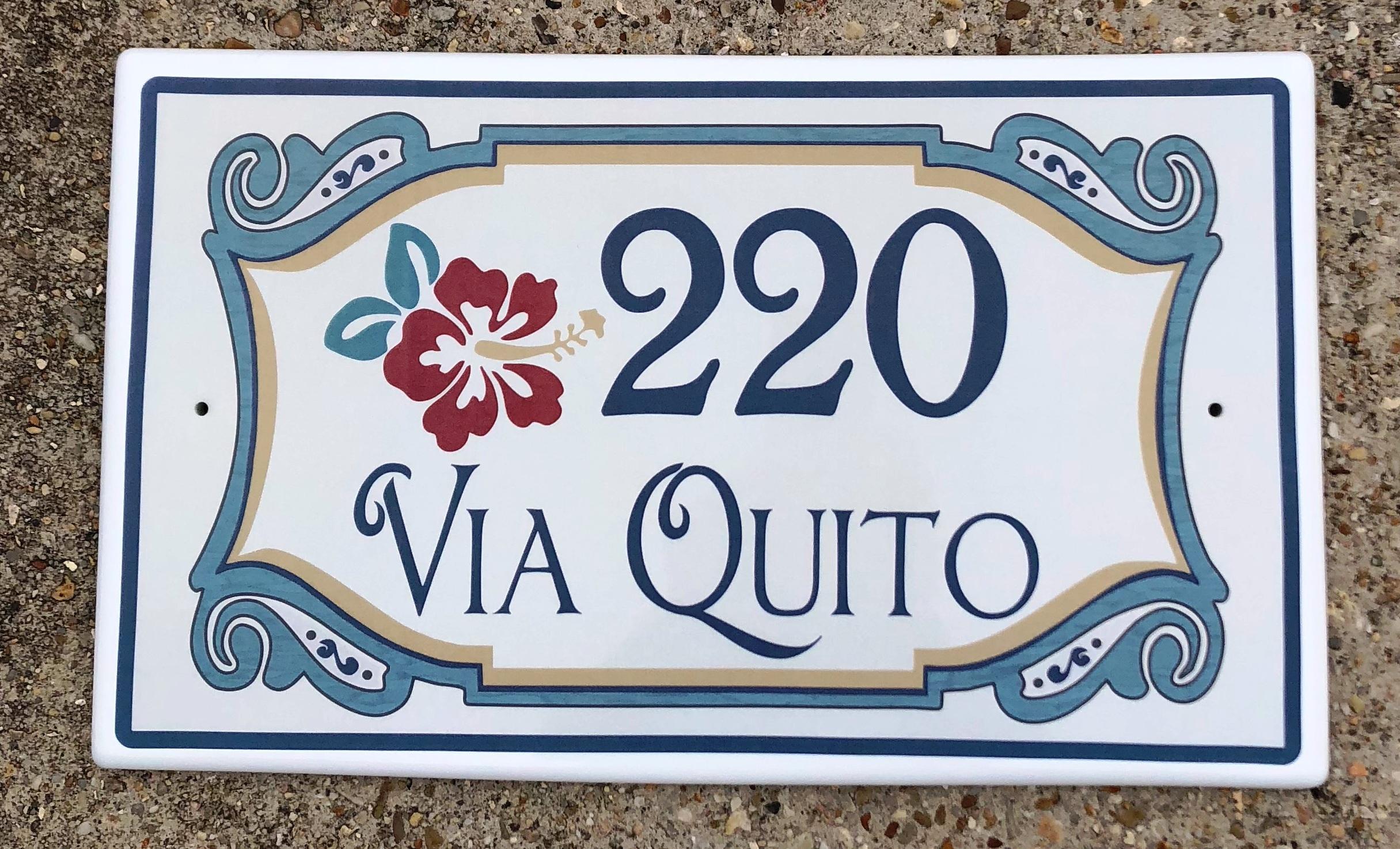 Spanish Style Address Plaque