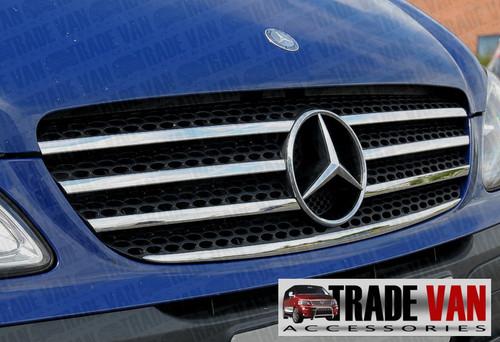 Stainless Steel Radiator Grille Set 7pc Mercedes Vito Van 2003-10