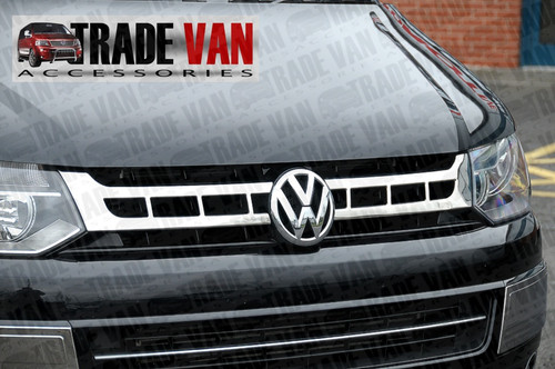 Chrome Grille grill cover for VW T5 Transporter 2010 - on Polished Stainless Steel Chrome Look finish from Trade Van Accessories at best discount UK prices.