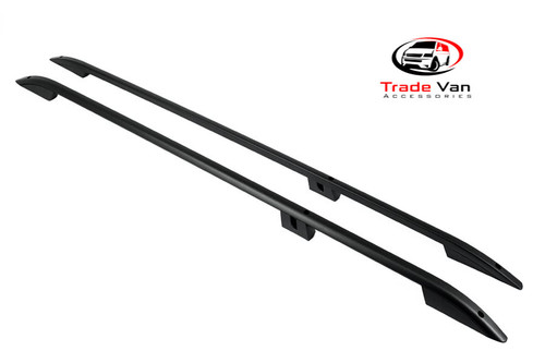 Our Ford Transit Custom Sahara roof rails and roof rack accessories really upgrade your Ford van. These black anodised aluminium roof rails will fit all Transit Custom models (except high roof versions) including Custom Double Cab & Torneo Custom Minibus. Buy all your Van accessories online at Trade Van Accessories.