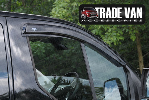 Our Ford Custom Window Visors Wind Deflectors are a practical styling accessory for your Ford Custom Van or Torneo MPV. Buy online at Trade Van Accessories.