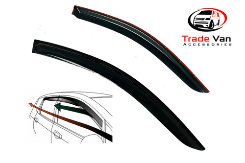 VW Polo 3 door Wind Deflectors Dark Tinted 2010-15 Set of 2 Our TVA Styling Wind Deflectors are Manufactured using a thicker Premium Quality Dark Smoked Tint Acrylic that looks great yet allows Clear Vision from inside the car