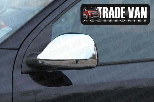 Our VW Transporter T5 2010 on Mirror Covers ABS Chrome transform the Side Styling of your Transporter T5 Van or Caravelle, Shuttle. Buy online at Trade Van Accessories.