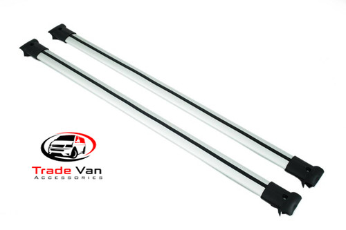VW Caddy Diamond Cross Bars are designed to fit your OEM rails or our TX3 rails a sturdy roof rack that will hold a top-box or luggage. Anodised SILVER for stylish looks but serves your practical needs. Buy at Trade Van Accessories