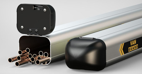 Van Guard's eye catching pipe carrier has been designed and manufactured in Britain to be the best in the market.  Protect your pipes and your profits. Buy online at Trade Van Accessories.