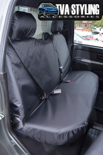 Isuzu Rodeo Seat Covers 2003-2012 Rear Seats BLACK