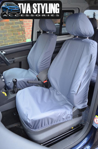 VW Caddy Seat Covers ALL YEARS Front Seats GREY