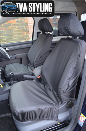 VW Caddy Seat Covers ALL YEARS Front Seats BLACK