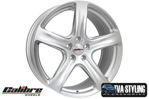 """Our Silver high quality 18"""" alloy wheels for the VW Caddy are an eye-catching and stylish accessory for your Van. Buy online at TVAStyling.co.uk"""