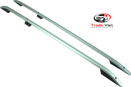 Our Volkswagen Caddy Maxi  Roof Rails a sturdy roof rack that will hold a top-box or luggage. Anodised SILVER for stylish looks but serves your practical needs. Buy at Trade Van Accessories