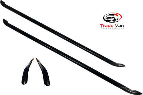 Renault Trafic side bars finished in black. Fantastic quality at a low trade price. Buy online or visit us in store. TVA Styling, TradeVanAccessories.co.uk