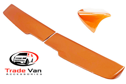 Our Sahara Rear Twin Door Spoilers really upgrade your Ford Transit Custom Van & Custom Torneo MPV giving a great look, a contemporary dynamic to your Custom Van. Moulded using the latest GRP technology the Sahara spoiler is tough with a great OEM Painted finish Orange Glow.