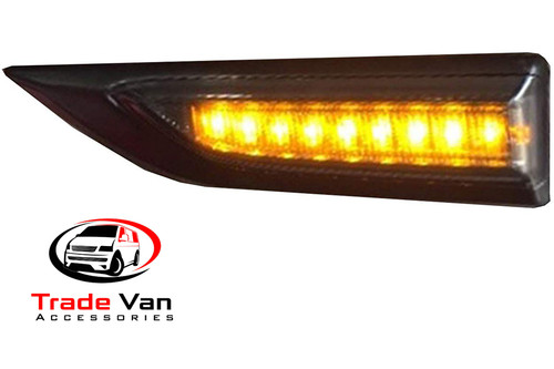 Our VW T6 transporter and Caravelle side indicator LED Dynamic technology with sequential amber lights