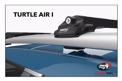 Black Turtle Air I cross bars roof rack is a great addition to create extra carrying space on top of your vehicle. They attach to the side roof rails of your vehicle creating a crossbar rack to carry any bulky items. This is great for transporting items without losing interior space