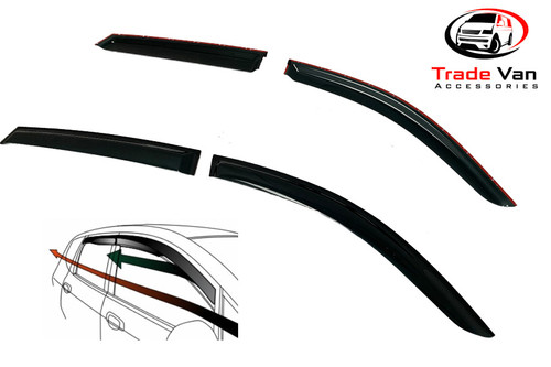 Vauxhall Mokka Wind Deflectors Dark Tinted 2012 - 17 Set of 4 Our TVA Styling Wind Deflectors are Manufactured using a thicker Premium Quality Dark Smoked Tint Acrylic that looks great yet allows Clear Vision from inside the car