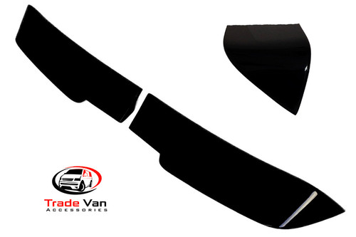 Volkswagen Transporter T6 & T6.1 Sportline Rear Spoiler Twin-door in Pearl Black