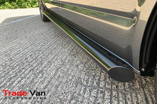 Vauxhall Vivaro 2001-19 SWB Black Side Bars Slash Cut Steel Tube 76mm