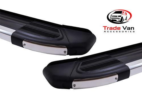 Ford Connect SWB 2014-19 Side Steps BLACK Brilliant Edition