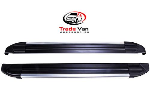 Fits Nissan Primastar LWB 2001-15 Side Steps BLACK Brilliant Edition