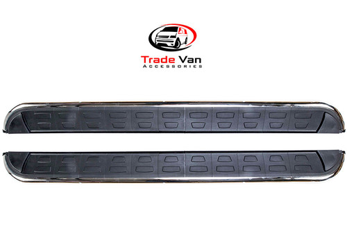 Fits Ssangyong Rexton Side Steps Calibre Black Edition Fits 2013-18