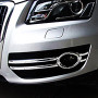These chrome Audi Q5 front fog light covers are a cool and stylish accessory for your car SUV. Buy online at Trade car Accessories. These units feature triple chrome plating for an extended life.