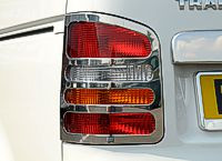 VW TRANSPORTER//CARAVELLE T4 95-03 STAINLESS STEEL REAR LIGHT COVER SET CHROME