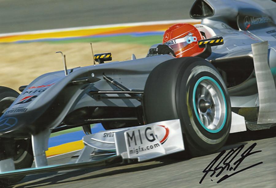 Michael Schumacher Signed Photograph 2010 - 8