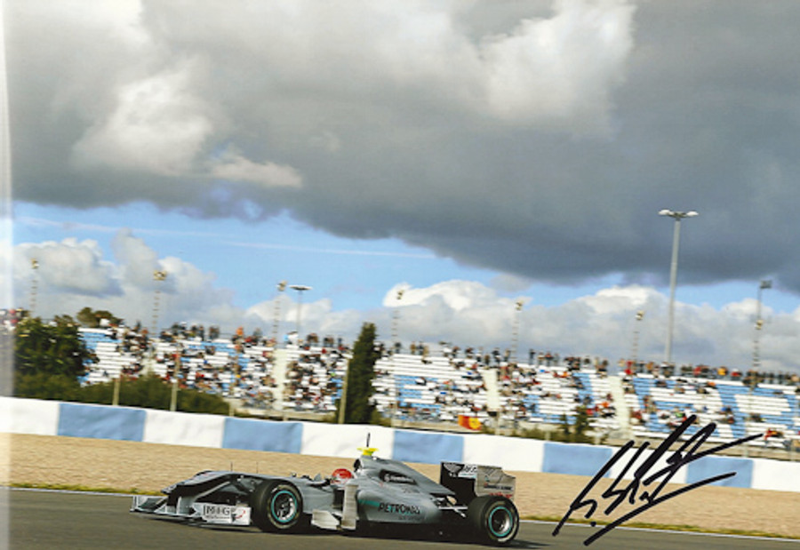 Michael Schumacher Signed Photograph 2010 - 9