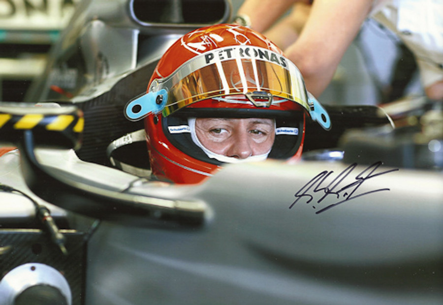 Michael Schumacher Signed Photograph 2010 - 11
