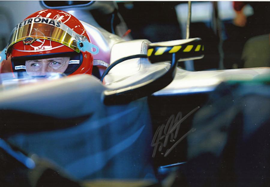 Michael Schumacher Signed Photograph 2010 - 13