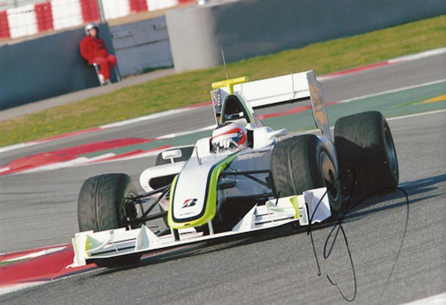 Rubens Barrichello Signed Photograph 2009