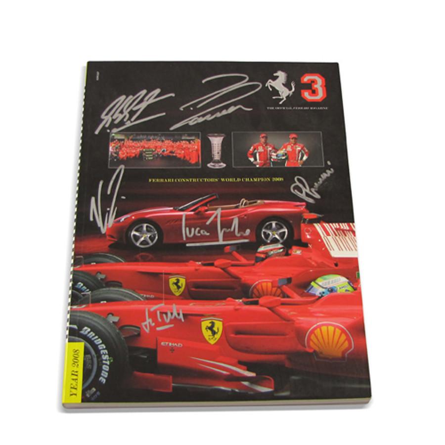 2008 Ferrari Yearbook signed by Schumacher, Raikkonen, Massa, Ferrari and DiMontmezemelo